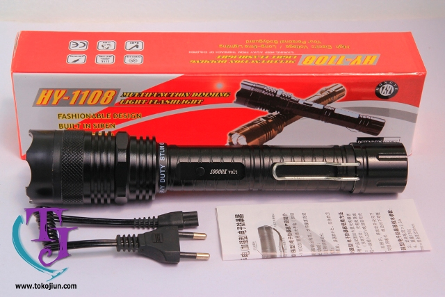 Senter Stun Gun 1108 Toko Jiun Black Tag 4 SENTER PLUS SETRUM 1108 10.000KV