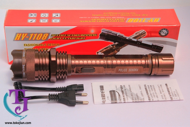 Senter Stun Gun 1108 Toko Jiun Gold Tag 4 SENTER PLUS SETRUM 1108 10.000KV